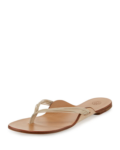 The Row Leathers CASABLANCA STRAPPY THONG SANDAL, MOON