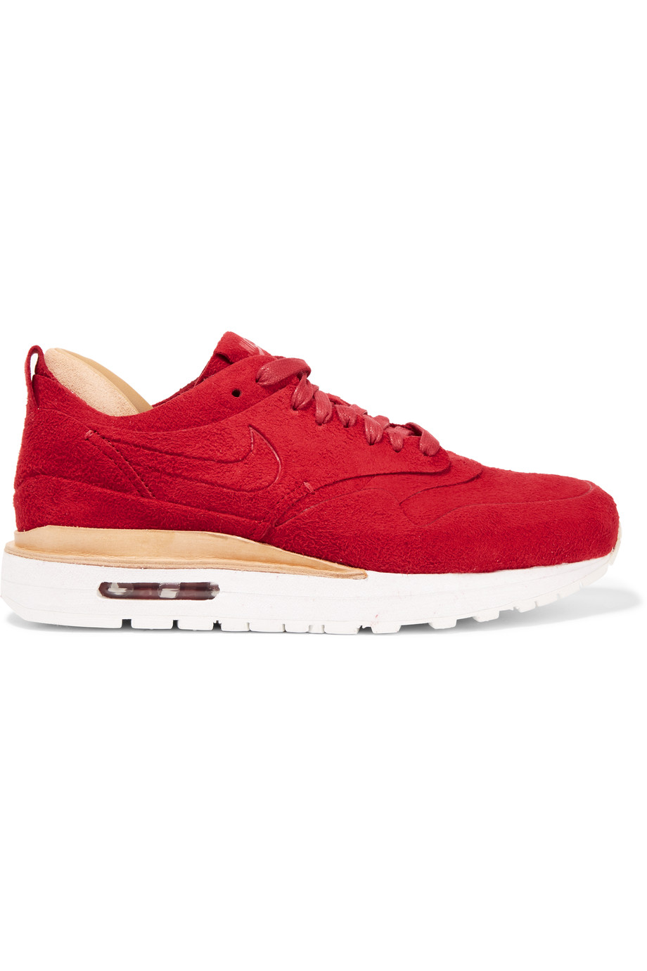 the best attitude da829 38241 NIKE AIR MAX 1 ROYAL SUEDE AND LEATHER SNEAKERS, GYM RED