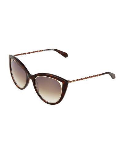 Balmain Two Tone Cat Eye Sunglasses