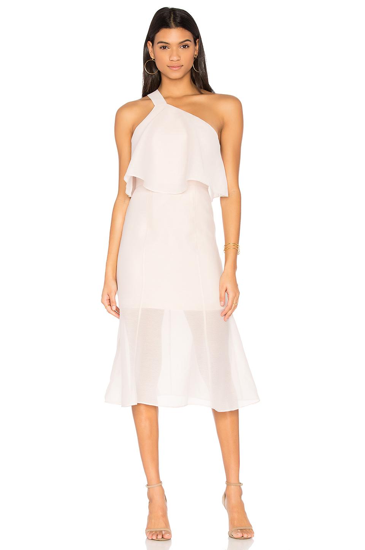 KEEPSAKE Float Midi Dress In Blush. in Oyster