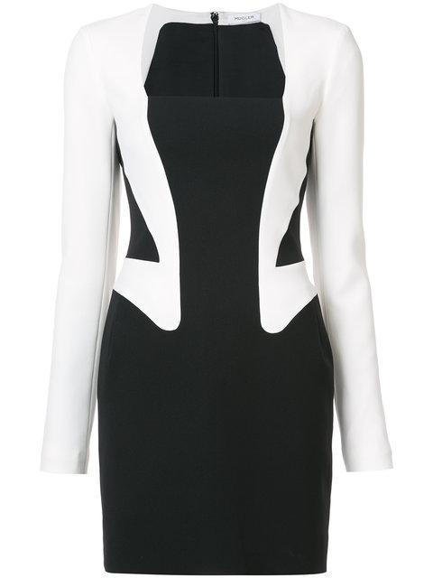 Black & White Trompe L'Oeil Blazer Dress