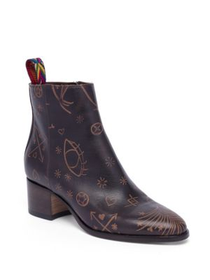 Valentino Leathers Santeria Leather Booties