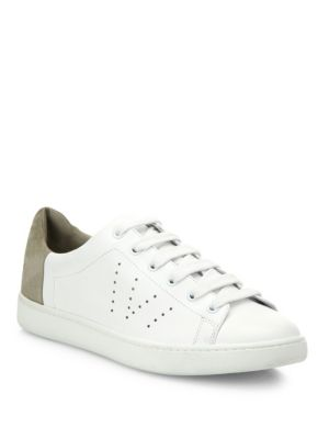 Vince Leathers Varin Leather & Suede Sneakers