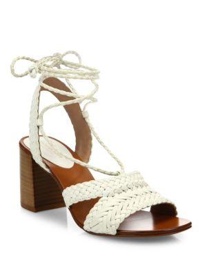Michael Kors Lawson Leather Lace-Up Sandals 27qJJm