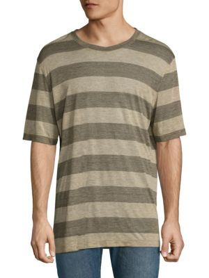 HELMUT LANG Striped Cotton Tee