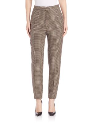 Slim Checkered Pants