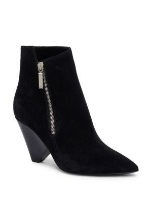 Black Suede Niki Asymmetric Boots