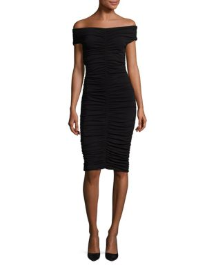 The Row Dresses Hali Off-The-Shoulder Ruched Dress