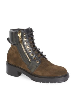 40MM ARMY SUEDE & LEATHER ANKLE BOOTS