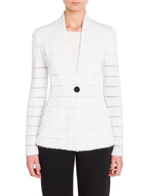 Giorgio Armani Blazers Long Sleeve Knit Jacket
