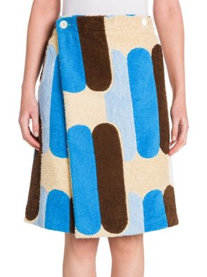 Printed Terry Cloth Skirt