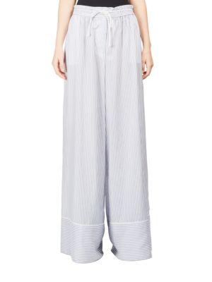 Light Blue & White Pinstripe Pant