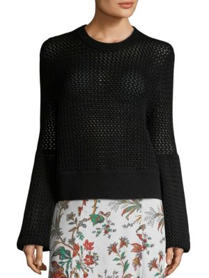 knit exaggerated sleeve top