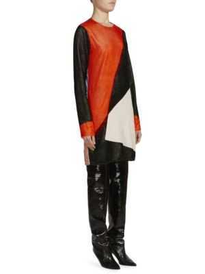 Velvet Colorblock Mini Dress