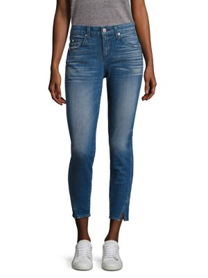 skinny cropped high-waisted jeans