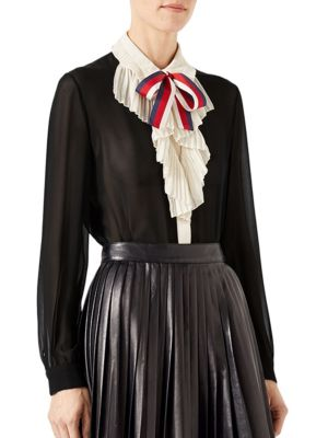 Gucci Silks Silk Georgette Shirt