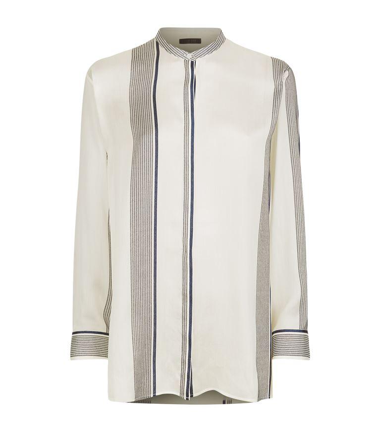 The Row Silks Stola Striped Silk Shirt