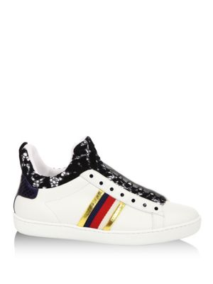 New Ace Lace-Detail Leather High-Top Sneakers