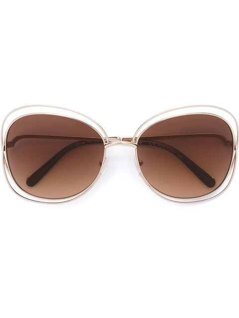 CARLINA MIRRORED AVIATOR SUNGLASSES, 61MM