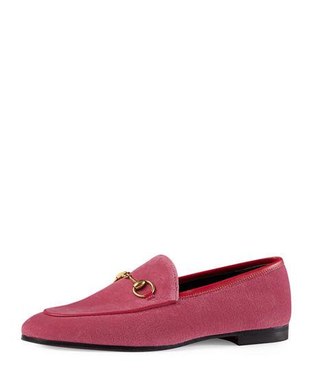GUCCI 10Mm Jordan Velvet Loafers, Pink