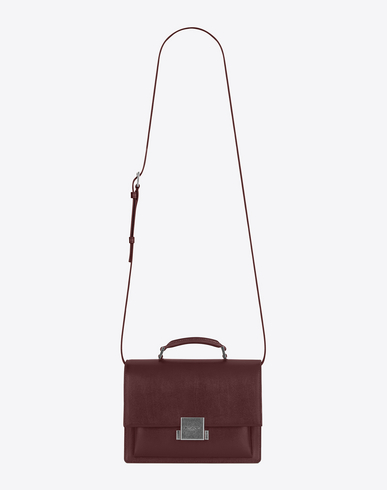 BELLECHASSE LEATHER AND SUEDE SHOULDER BAG