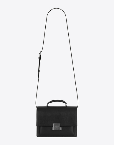 BELLECHASSE BLACK LEATHER HAND BAG