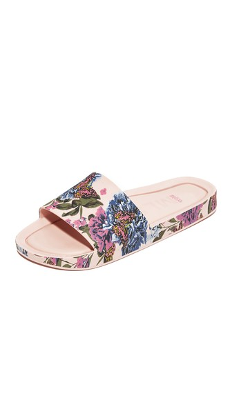 BUTTERFLY POOL SLIDE SANDALS