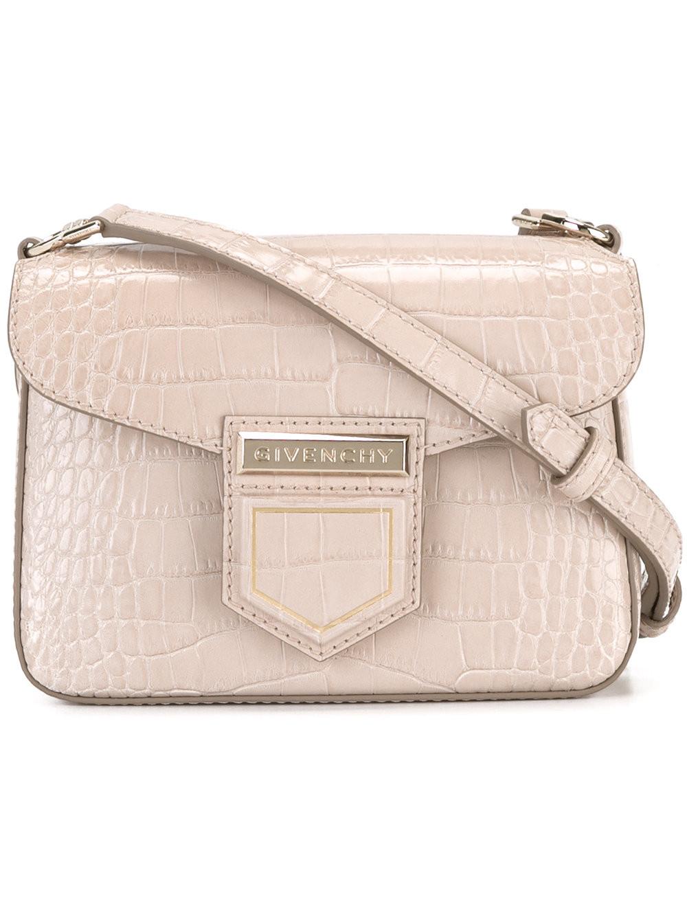 Givenchy Leathers crocodile effect 'Nobile' shoulder bag