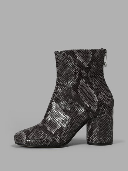 PYTHON ANKLE BOOTS