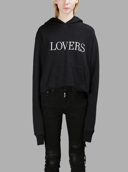 Lovers Printed Cotton Hoodie
