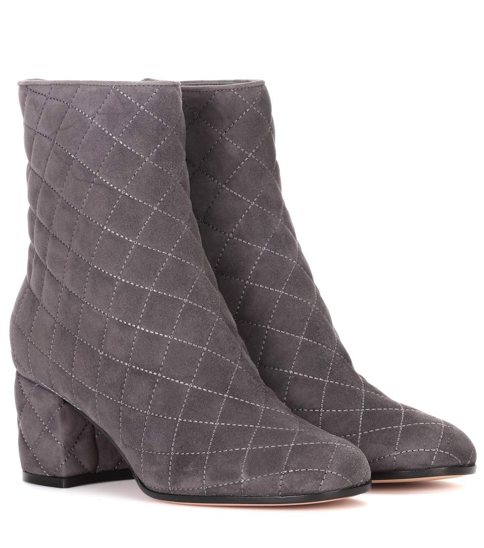 EXCLUSIVE TO MYTHERESA.COM - QUILTED SUEDE ANKLE BOOTS