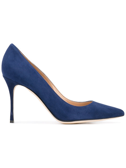 WOMEN'S GODIVA SUEDE POINTED TOE PUMPS