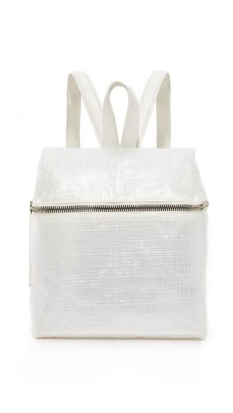 White Small Tarp Backpack