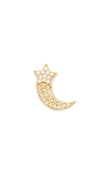 Shooting Star Single Stud Earring