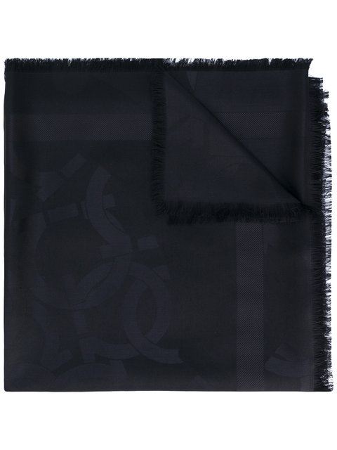 Gancio monogram scarf
