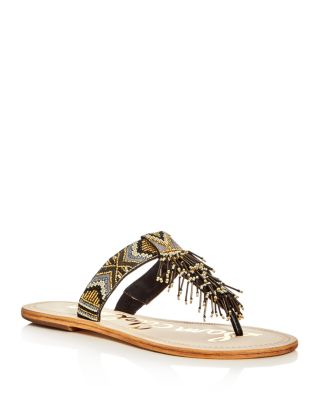 Women's Anella Beaded Thong Sandals