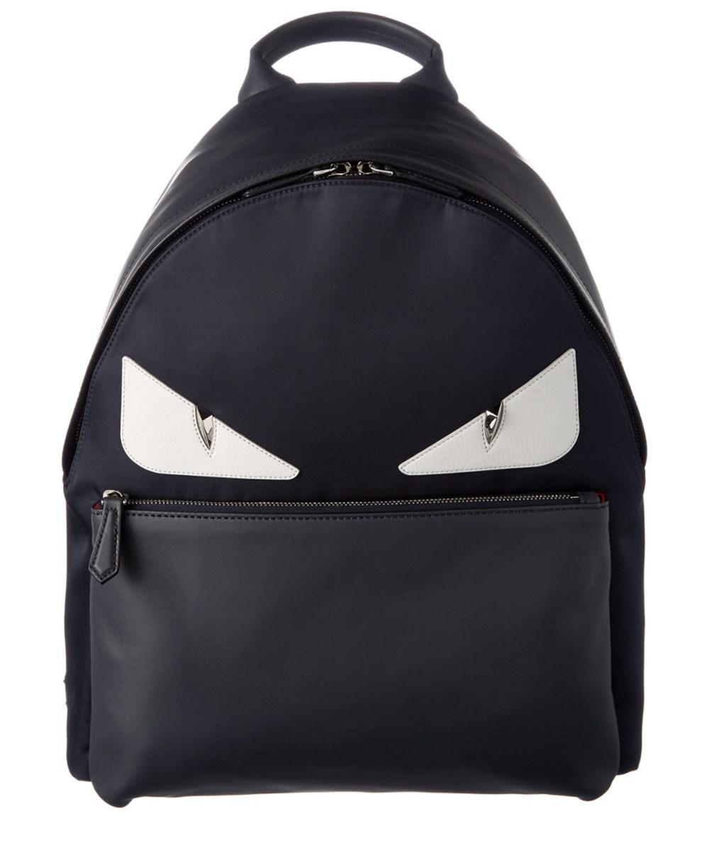 FENDI Fendi Bug Crystal Nylon &Amp; Leather Backpack'