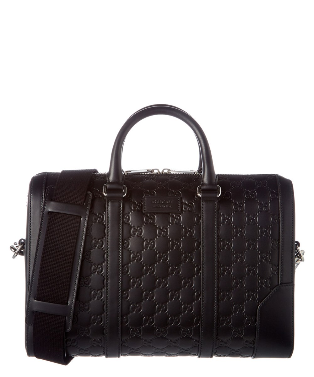 GUCCI Gucci Signature Leather Briefcase'