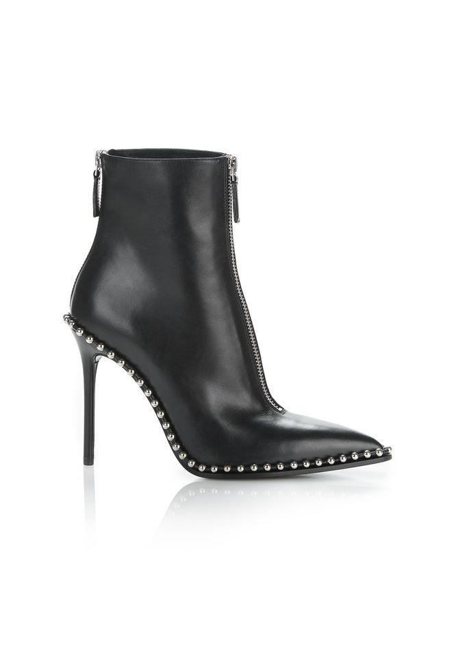 'Eri' ball chain trim leather ankle boots