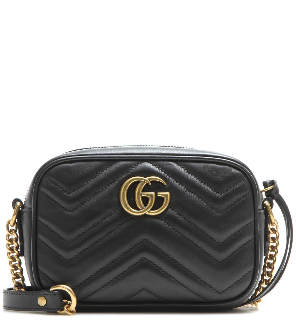 Gucci Marmont Gg Matelassé Camera Mini Quilted Leather