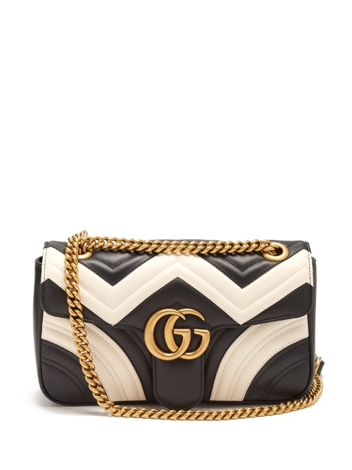 35fa8d5140e90 Gucci Gg Marmont Small Shoulder Bag White