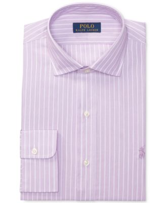 POLO RALPH LAUREN Polo Ralph Lauren Men'S Classic/Regular Fit Pinpoint Lilac Stripe Poplin Dress Shirt