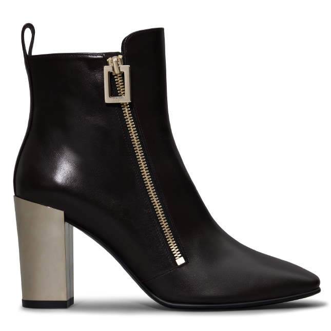 ROGER VIVIER Polly Ankle Boots In Leather
