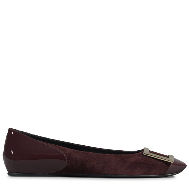 Ballerina Trompette Cut in Suede and Patent Leather