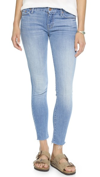 Mother Clothing The Looker Ankle Fray Jeans