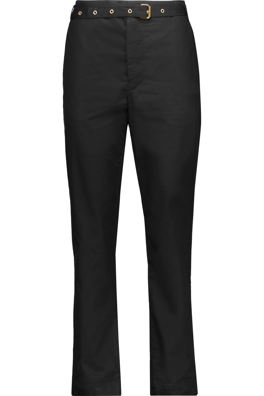 Isabel Marant Linens Nanon cotton-poplin straight-leg pants