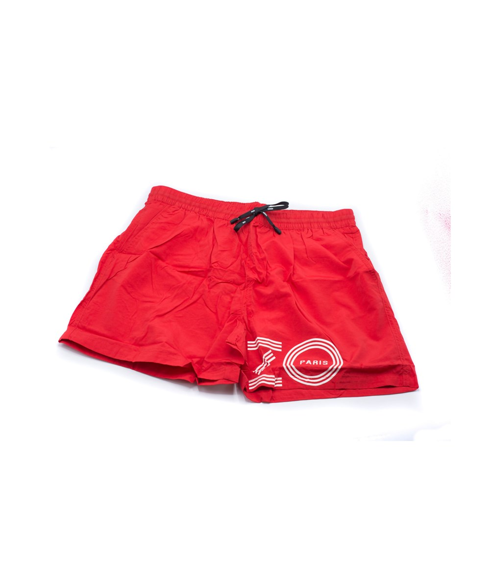 Kenzo Linings KENZO MENS RED BATHING SUIT SWIM SHORTS TIGER
