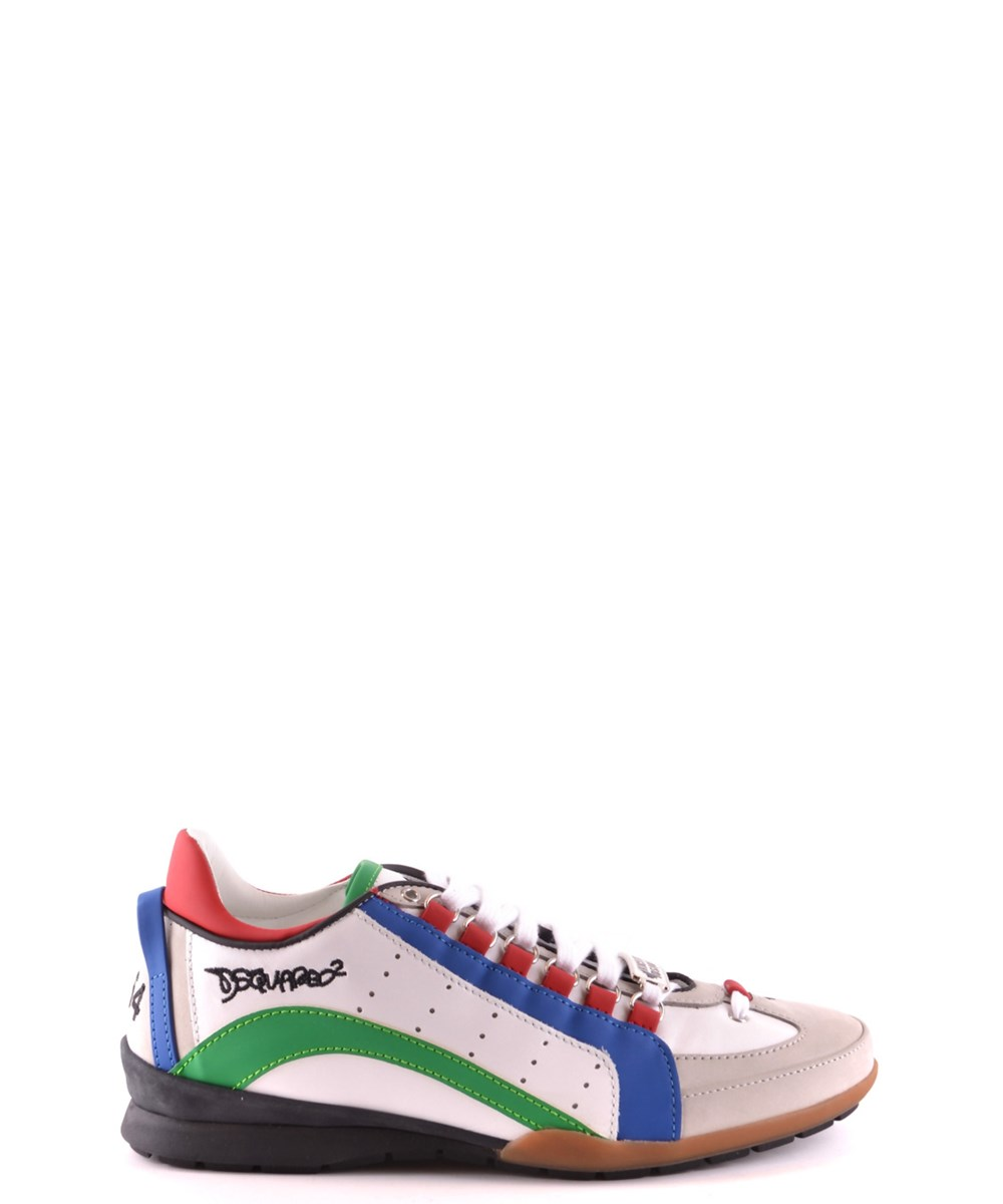 Dsquared2 Leathers DSQUARED2 MEN'S  MULTICOLOR LEATHER SNEAKERS