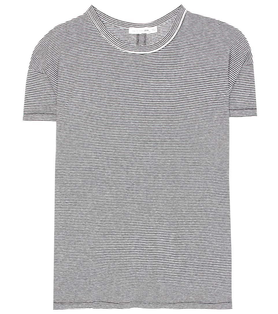 Rag & Bone Linens Striped linen-blend T-shirt
