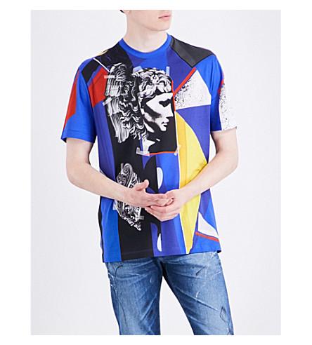 Versace Cottons Abstract-print cotton-jersey T-shirt